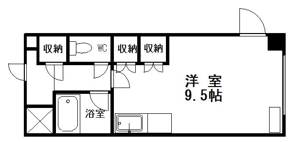 洋室6帖 キッチンスペース3帖