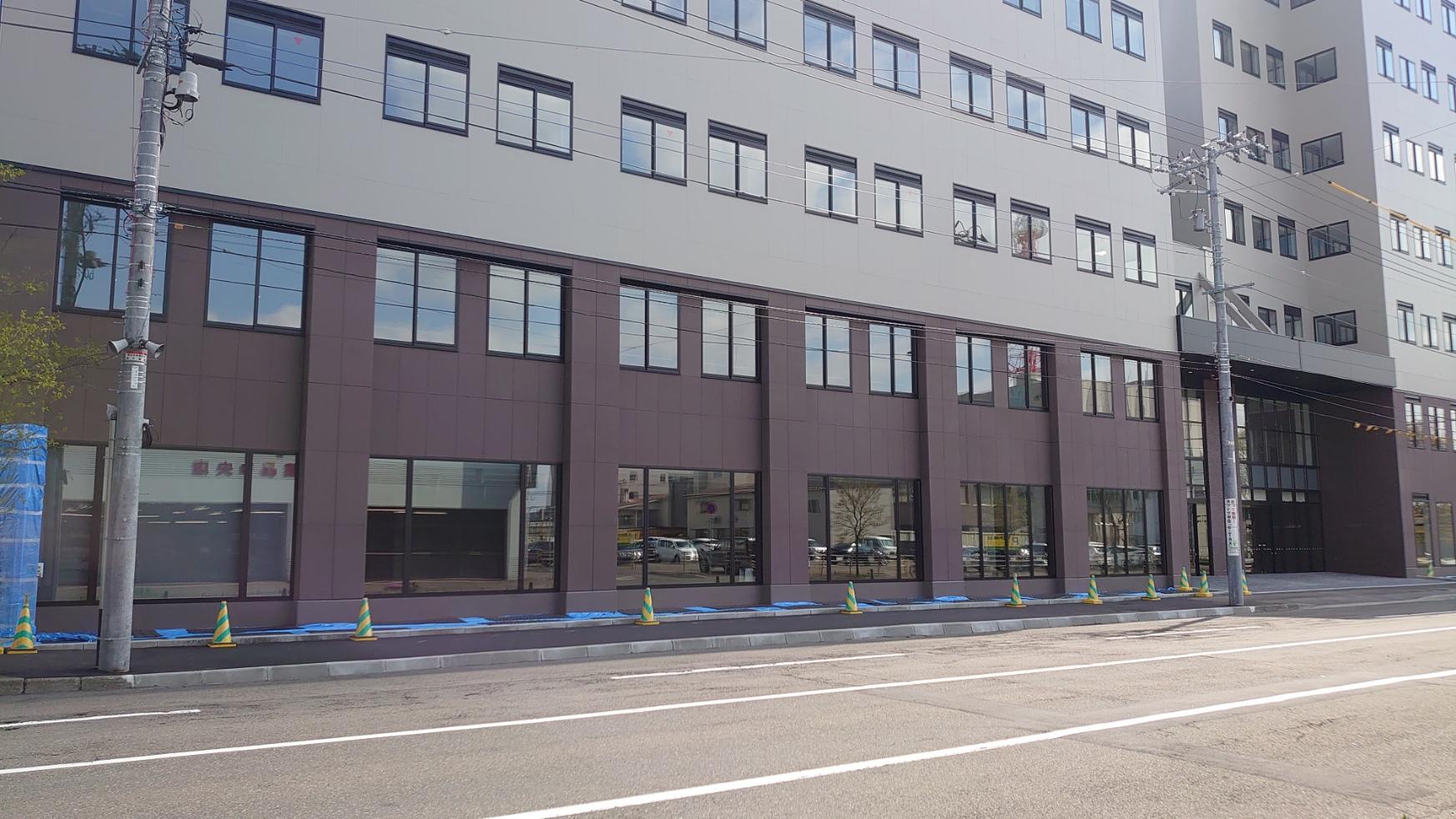 帯広市西3条南9丁目の再開発エリア