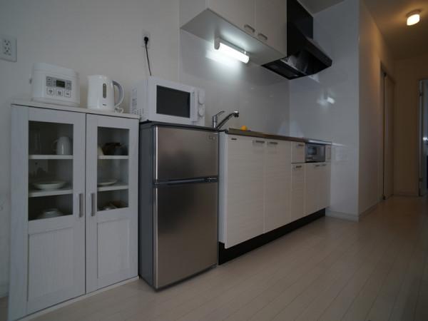 広めのキッチンスペースで快適です。