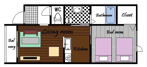 部屋画像24:間取図